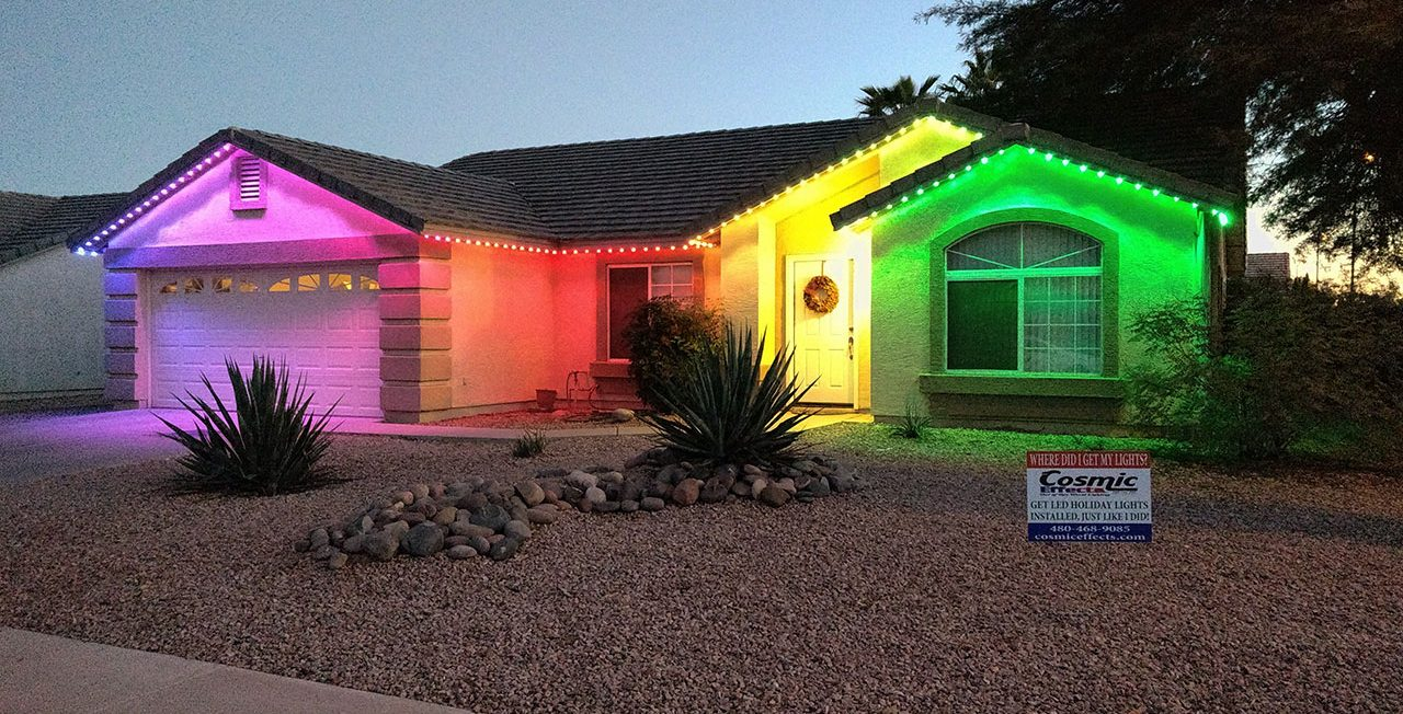 We love our holiday house lights